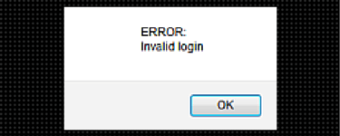 Joomla update error invalid login