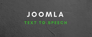 Joomla Text To Speech