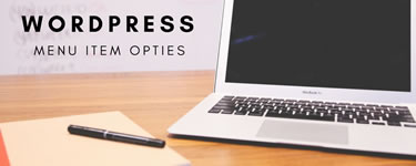 Wordpress Menu Item Opties