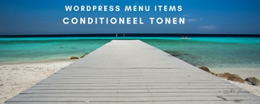Wordpress menu items conditioneel tonen